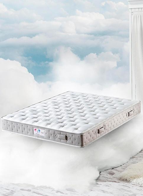 Hibboux Cloud Pocket Yaylı Yatak 160x200 Cm Beyaz